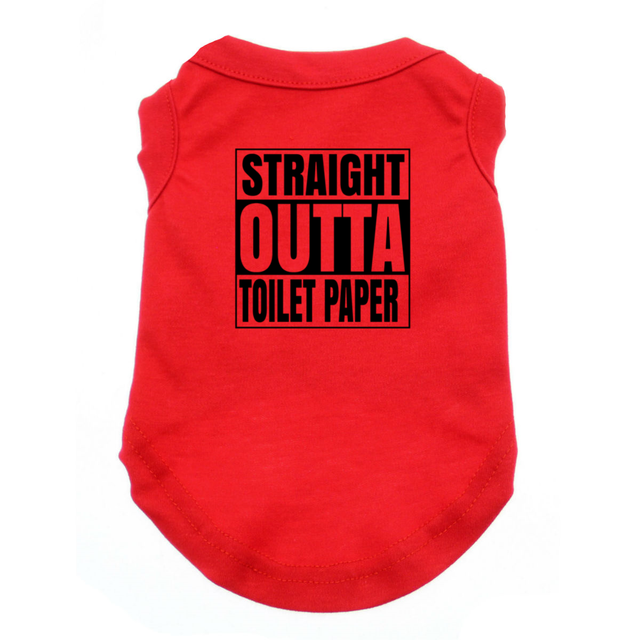 Straight Outta Toilet Paper Dog Shirt Satire Tee