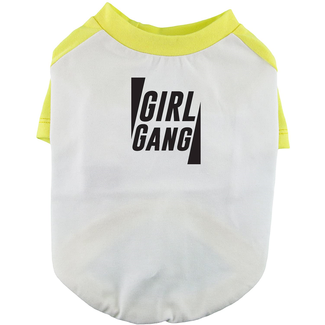 Girl Gang Dog Shirt Raglan Sleeve