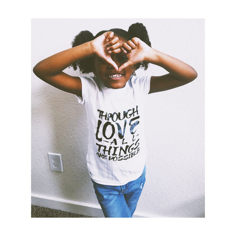 sweet expreshunz love Kid's tee happy girl heart natural hair