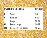 women's relaxed size chart