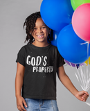 God's Property tshirt natural hair girl smiling holding balloons black shirt