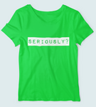 sweet expreshunz seriously green tee