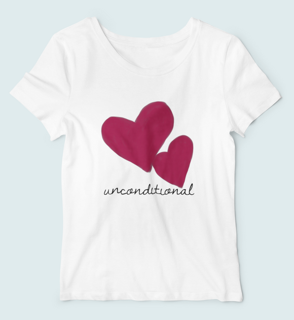 sweet expreshunz unconditional love adult tee white