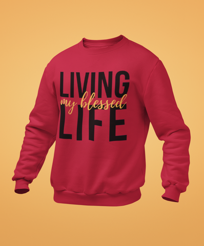 sweet expreshunz living my blessed life sweatshirt