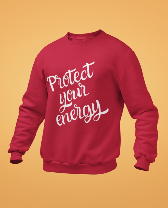 sweet expreshunz protect your energy red sweatshirt