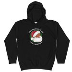 black santa claus is a black man hoodie