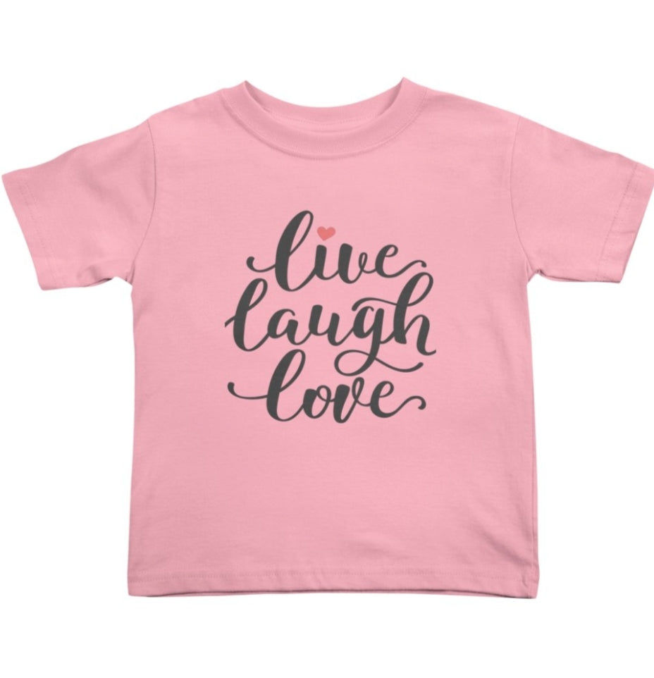 Live. Laugh. Love. - Kid's Tee - Sweet Expreshunz