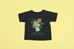 hustle like tiana black tshirt kid yellow background