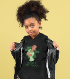 hustle like tiana hoodie natural hair black girl serious pose holding jacket open