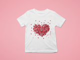 white heart explosion tee