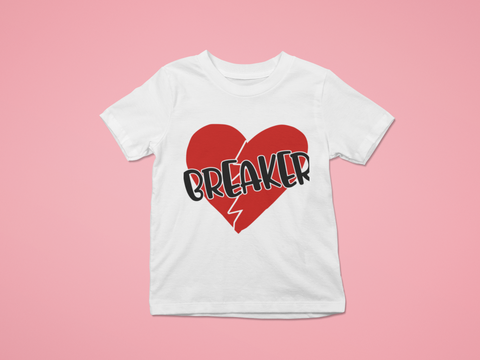 white heartbreaker broken heart Kid's tee