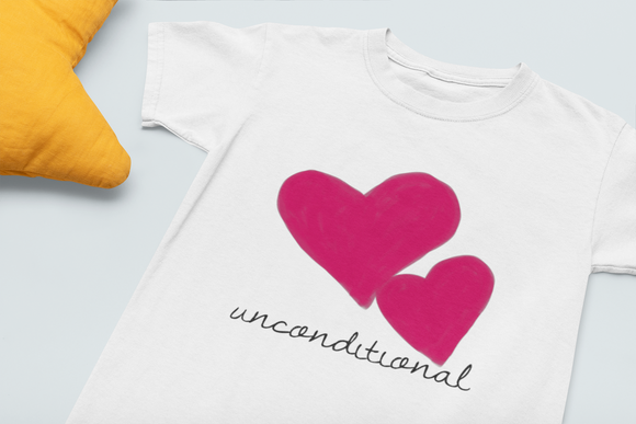 sweet expreshunz unconditional love Kid's tee white