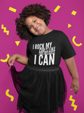 because i can black curls natural hair kid tshirt smiling girl
