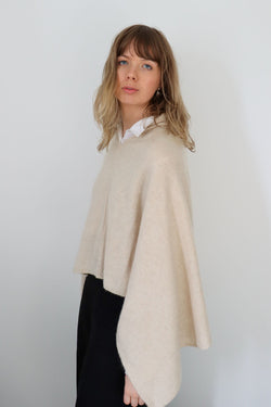 The Everyday Poncho / Light Beige