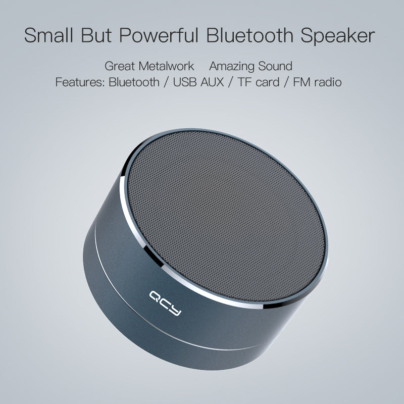 2017 QCY A10 Bluetooth 4.1 speaker mini portable loudspeaker sound MP3 music play/ TF card/FM radio/AUX with microphone calls