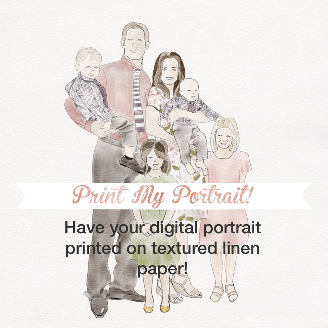 Print My Digital Portrait | Professional Quality Prints On 60 lb Textured Linen Paper