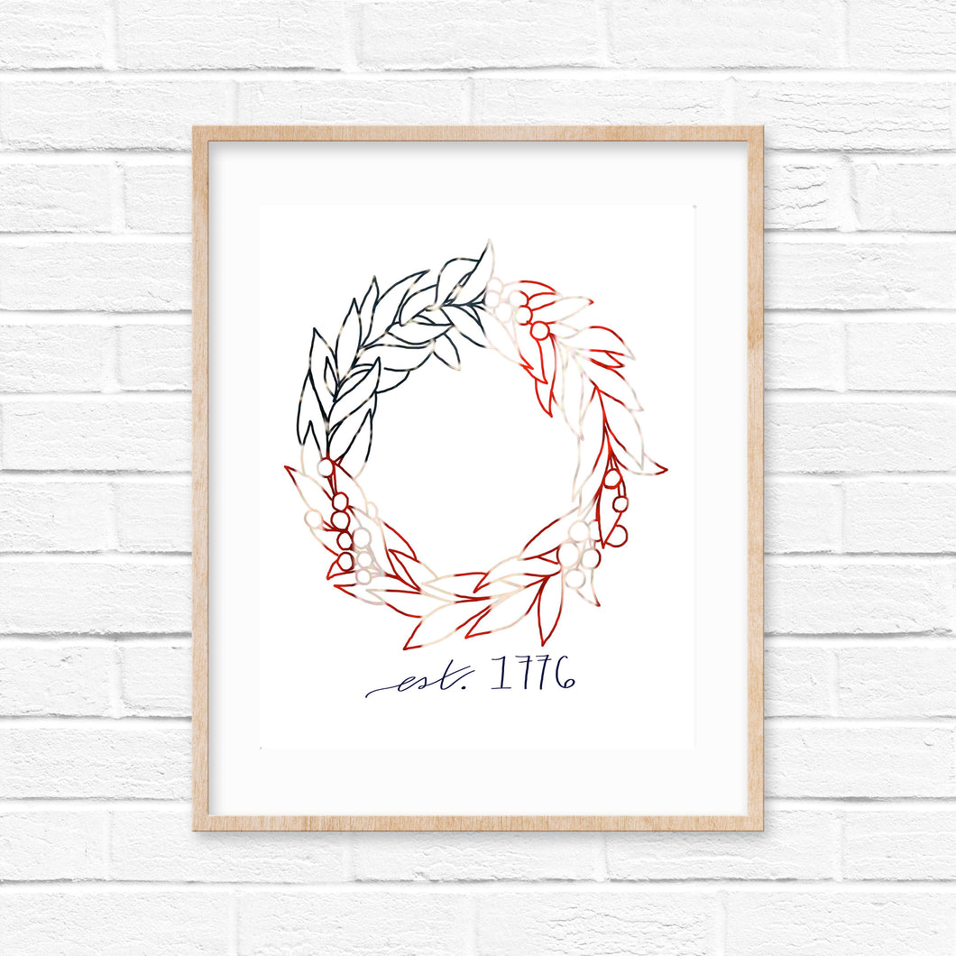 Americana Wreath Digital Download | Print