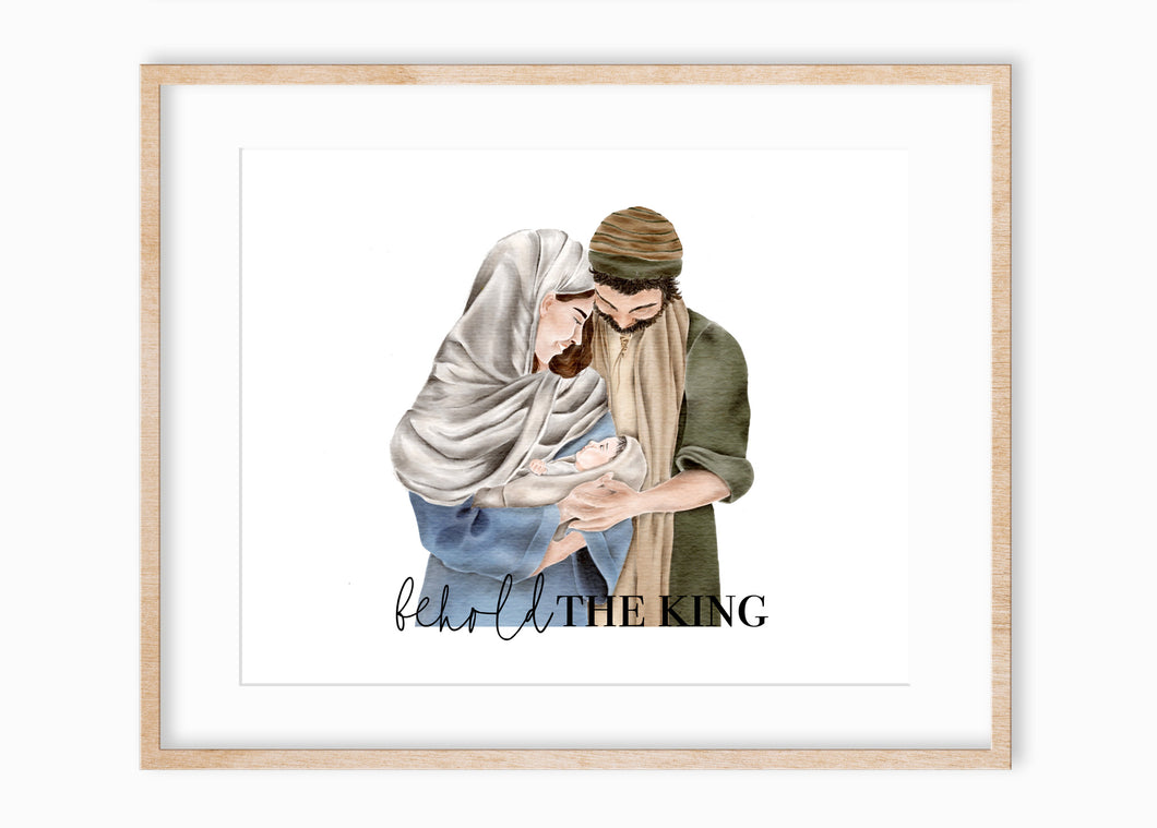 Behold The King Nativity Painting | Print