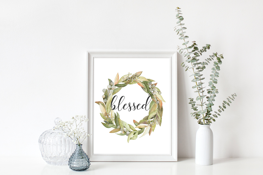 Blessed Wreath Print