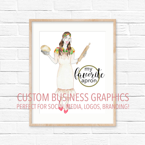Custom Digital Business Graphics | Maker Portraits | DEPOSIT ONLY