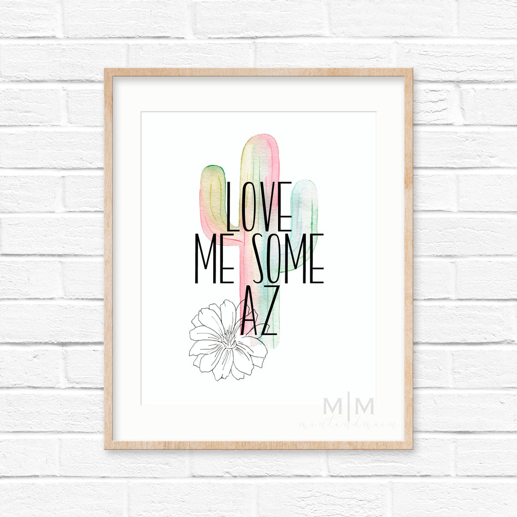 Mint and Main 'Love Me Some AZ' Print