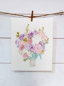 Custom Watercolor Bridal Bouquet Painting