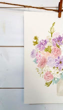 Bridal Bouquet Painting Details