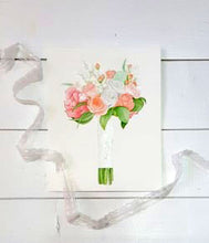 Beautiful Peony and Rose Bouquet Painting