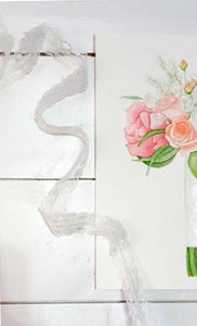 Watercolor Bouquet Painting Details