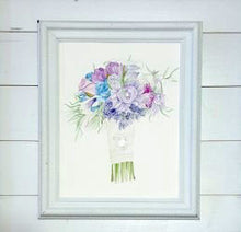 Boho Inspired Bridal Bouquet Painting, Custom Painting