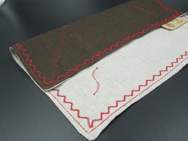 Brun Runddel (Cotton and Turkish Linen Fabric)
