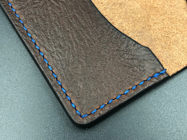 Small Moleskin Cover (Brown Leather-Blue Stitching)