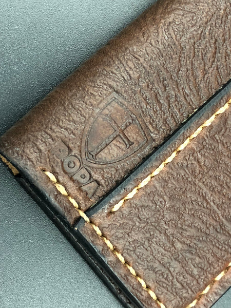 Small Moleskin Cover (Brown Leather-Beige Stitching)