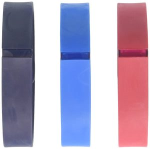 Fitbit Flex Classic Accessory Pack, Navy/Red/Blue, Small