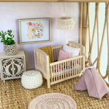 Cot with bedding
