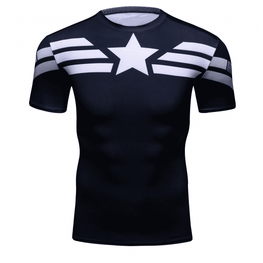 T-Shirt de compression manches courtes Captain Tervalle Light Edition - Le Vestiaire Rugby