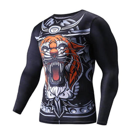 T-Shirt Compression manches longues Tiger Edition