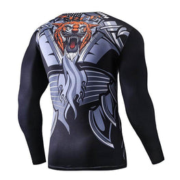 T-Shirt Compression manches longues Tiger Edition - Le Vestiaire Rugby