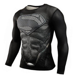 T-Shirt de compression manches longues Supermandale Dark Edition