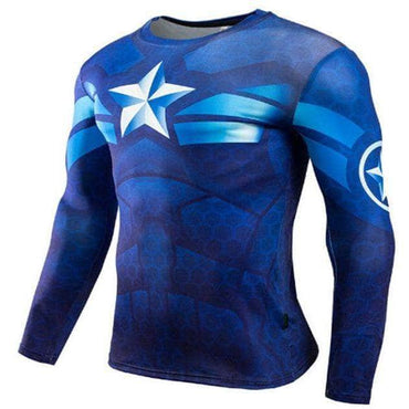 T-Shirt de compression manches longues Captain Tervalle Ocean Edition