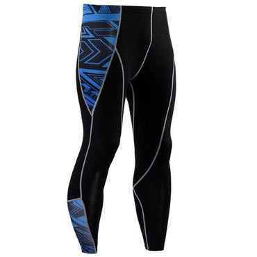 Collant Compression Blue Maori