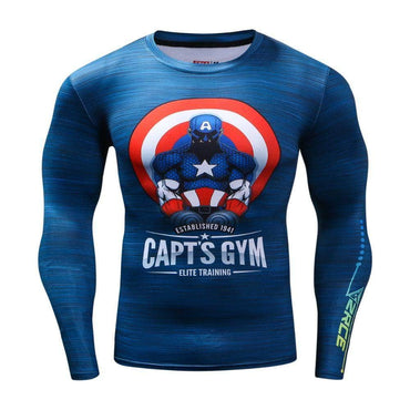 T-Shirt Compression manches longues Captain Fonte