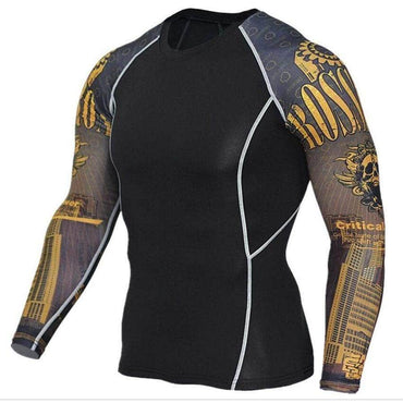 T-Shirt de compression manches longues Gold Edition