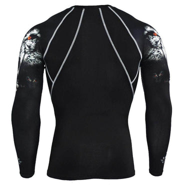 T-Shirt de compression manches longues Wolf