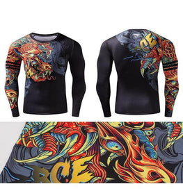 T-Shirt Compression manches longues Dragon Edition
