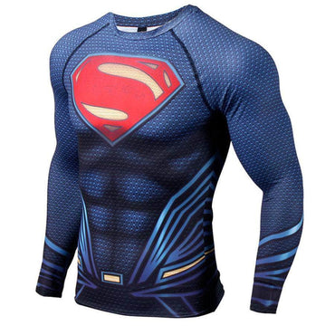 T-Shirt de compression manches longues Supermandale Classic Edition