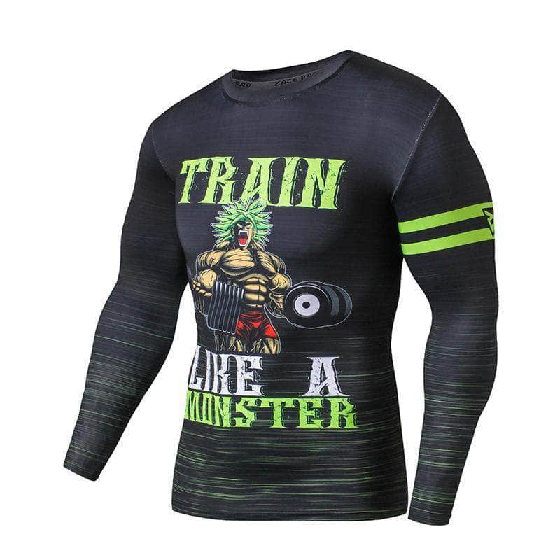 T-Shirt de compression manches longues Broly Monster Edition