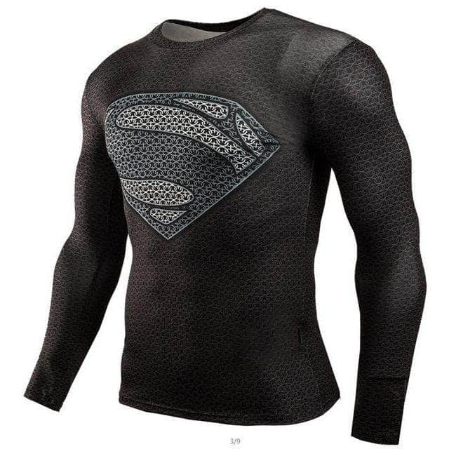 T-Shirt de compression manches longues Supermandale Dark Lite Edition - Le Vestiaire Rugby