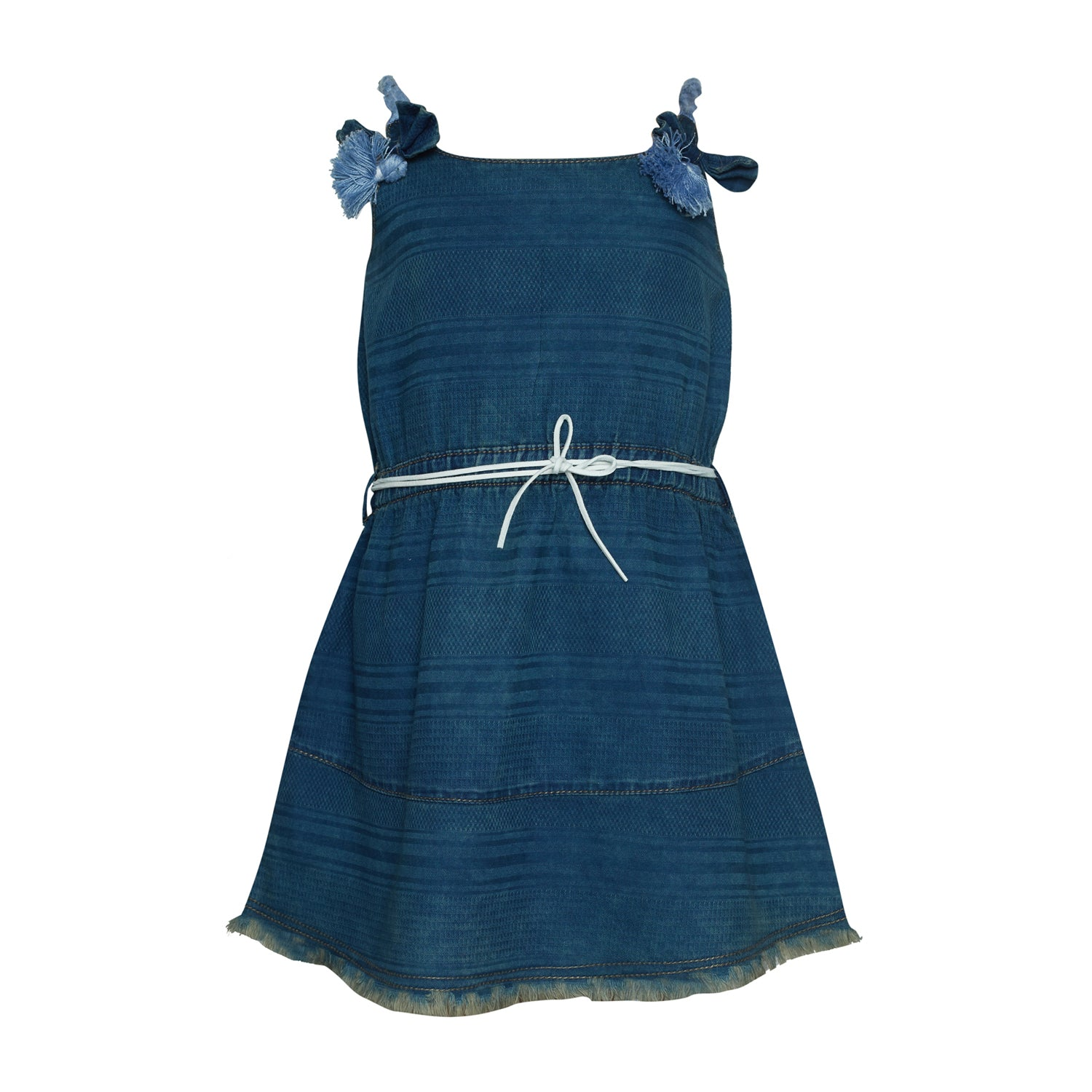 Buy Baby Girls Blue Slim Fit Cotton Dress line Tales & Stories