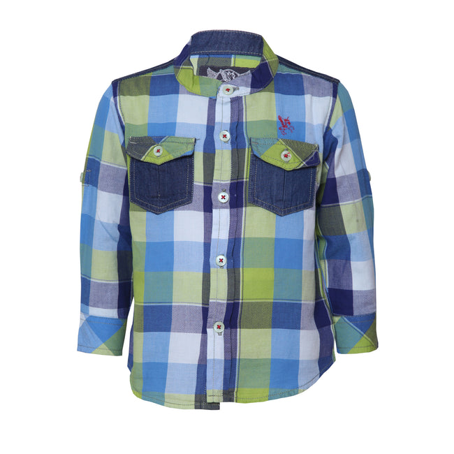 Baby Boys Shirts Parrot green